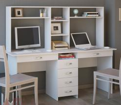 Компьютерный стол Тандем-2БЯ с надстройкой (Мастер)