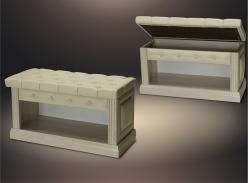 "Банкетка ""Благо 5"" Б 5.5 luxa beige (Мебель Благо)"