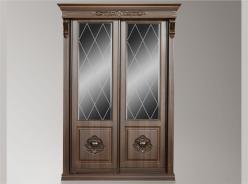 """Шкаф купе """"Благо"""" Классика с зеркалом (4) с алмазной гранью (Мебель Благо)"""