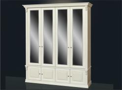 Шкаф в прихожую 4-х ств с зеркалами Б 13.2 (Мебель Благо)