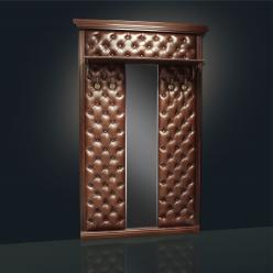 Вешалка с 4 крючками с узким зеркалом с полкой Благо арт.Б 5.10-4 (Мебель Благо)