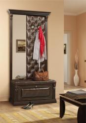 Вешалка с обувницей и узким зеркалом Благо арт. Б 5.8-4 (Мебель Благо)