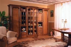 Стенка для гостиной Русь Петровская-72 (Мебель Черноземья) (Мебель Черноземья)