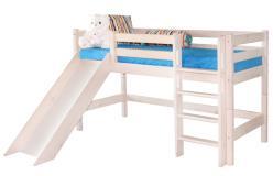 Низкая кровать «Соня» с прямой лестницей и горкой. Вариант 13 (Мебельград)