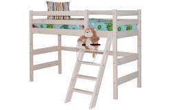 Полувысокая кровать «Соня» с наклонной лестницей. Вариант 6 (Мебельград)