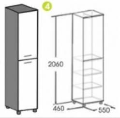 Шкаф для одежды Лима (Мебельград)