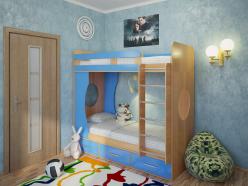 Детская кровать Милана - 1 (бук) (Милана-мебель)