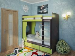 Детская кровать Милана - 1 (венге) (Милана-мебель)