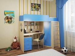 Детская кровать Милана - 3 (дуб) (Милана-мебель)