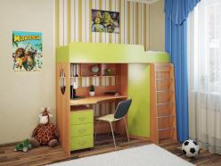 Детская кровать Милана - 3 (бук) (Милана-мебель)