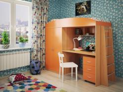 Кровать-чердак Милана-4 (бук+манго) (Милана-мебель)