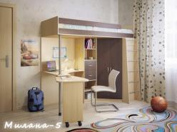 Кровать-чердак Милана-5 (Милана-мебель)