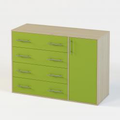 Милана Комод 4-ре ящика+дверь (Милана-мебель)
