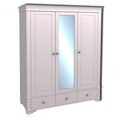 Шкаф 3х дверный с зеркалом Бейли  (ММЦ)
