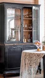 Прованс Буфет из дерева (черный состаренный) (Mobilier de Maison)