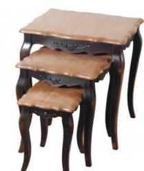 Прованс Комплект консольных столиков (черные состаренные) (К) (Mobilier de Maison)