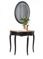 Прованс Консоль овальная (черная состаренная) (Mobilier de Maison)