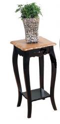 Прованс Подставка из дерева низкая (черная состаренная) (Mobilier de Maison)