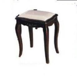 Прованс Табурет с мягким сиденьем для туалетного столика (черный состаренный)  (Mobilier de Maison)