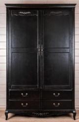 Прованс Шкаф из дерева на ножках (черный состаренный) (Mobilier de Maison)