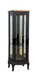 Прованс Шкаф-витрина (черная состаренная) (низкая) (Mobilier de Maison)