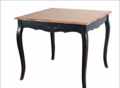 Прованс Стол чайный из дерева 90х90 (черный состаренный) (Mobilier de Maison)