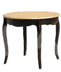 Прованс Стол из дерева круглый обеденный D90 (черный состаренный) (Mobilier de Maison)