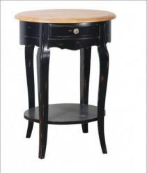 Прованс Стол прикроватный с ящиком (черный состаренный) (Mobilier de Maison)