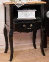 Прованс Тумба прикроватная с 1 ящиком (черная состаренная) (Mobilier de Maison)