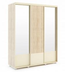«Оливия» 23 Шкаф-купе Корпус + 25 Фасад без зеркала + 26 Фасад с зеркалом*2 шт (МСТ Мебель)