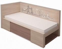 Кровать мод.1 «Город» 80*200 см. (МСТ Мебель)
