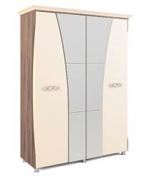 «Натали» Модуль 10 Шкаф четырехдверный с карнизом (МСТ Мебель)