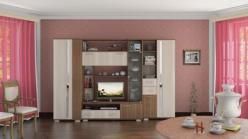 Стенка Дарси 1 + Шкаф + Стеллаж (НИК Мебель)