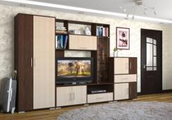 Стенка Домино 7 + Шкаф + Комод (НИК Мебель)