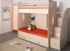 Кровать двухъярусная Д1 (Олимп-мебель)