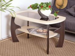 Стол журнальный Маджеста - 3 с пескоструем (Олимп-мебель)