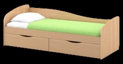 """Кровать с ящиками 80*190, с поддоном ЛДСП  """"Пионер"""" Кр15 (Омскмебель )"""