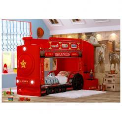Детская двухъярусная кровать Паровоз (красный) (Ред Ривер)