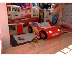 Детская кроватка ТОП СПИТ 3Д красная (Ред Ривер)