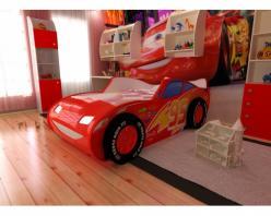 Кровать-машина ТОП СПИТ 3Д красная (Ред Ривер)