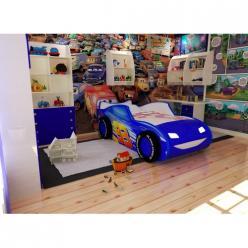 Кровать-машина ТОП СПИТ 3Д синяя (Ред Ривер)