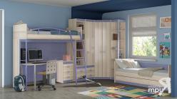 Детская комната «Индиго» (Ясень Коимбра, Навигатор) (ТриЯ)