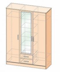 Джустин Шкаф 3-х дверный с ящиками (УфаМебель)