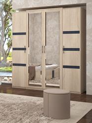 «Франческо» Шкаф для одежды 4-х дверный (УфаМебель)