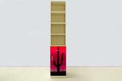 Пенал Мустанг Красный (ВиВера мебель)