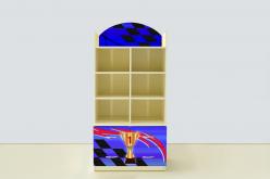Стеллаж с тумбой Молния Синяя (ВиВера мебель)