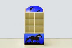 Стеллаж с тумбой Мустанг синий (ВиВера мебель)