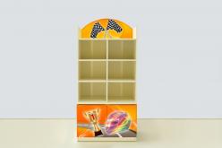 Стеллаж с тумбой Спорт кар Желтый (ВиВера мебель)