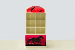 Стеллаж с тумбой Мустанг Красный (ВиВера мебель)