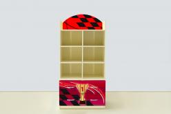 Стеллаж с тумбой Молния Красная (ВиВера мебель)